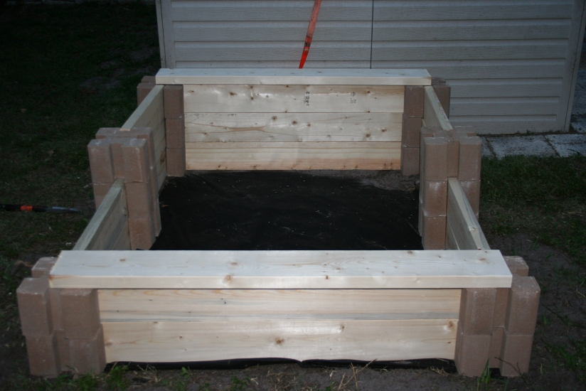 DIY Two Tiered Raised Garden Bed (28)