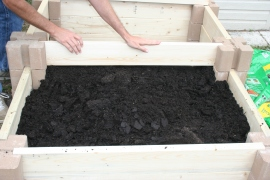 DIY Two Tiered Raised Garden Bed (39)