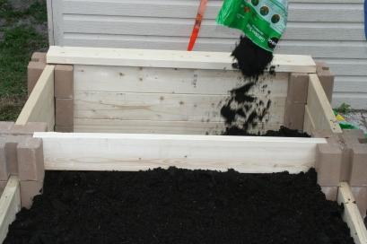 DIY Two Tiered Raised Garden Bed (44)