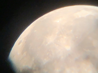 Moon from our telescope 1