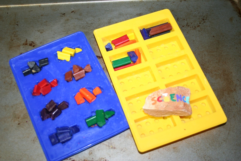 Old Crayons to LEGO Crayons